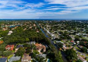 Amazing waterfront estate in Brick walled, gated Waterford Estates only 1 of 2 waterfront residences in this enclave with dock & boating access!